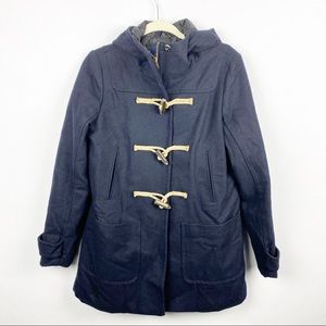 American Eagle Outfitters Wool Hooded Toggle Coat